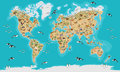 World Map highly detailed