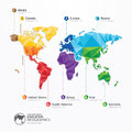 World map illustration infographics geometric concept design vector template Stock Photo