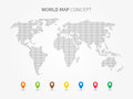 World Map Infographic With Col...