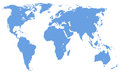 World map, isolated, clipping path Royalty Free Stock Photo