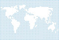World map made of dots Royalty Free Stock Photo