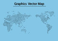 World map man icon and information graphics Stock Photography