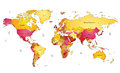 World map multicolored vector illustration Stock Images