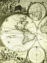 World map, old antique