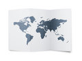 World map at paper sheet Royalty Free Stock Images