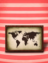 World map plaque  Stock Photos