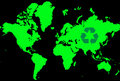 World map with recycle logo Stock Image