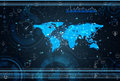 The world map with social network theme Royalty Free Stock Photo