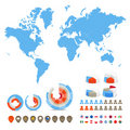 World map with special symbols Royalty Free Stock Photo