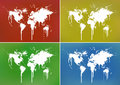 World map splatter backgrounds Royalty Free Stock Photo