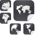 World map stickers Royalty Free Stock Photos
