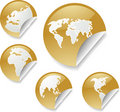 World map stickers Stock Image