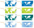 World map tags Stock Images