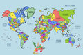 The world map travel