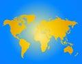 World map vecor Royalty Free Stock Photo