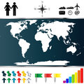World map vector of on white background Royalty Free Stock Photos