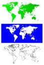 World maps Royalty Free Stock Photo