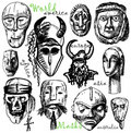 World masks Stock Image