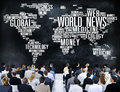 World News Globalization Advertising Event Media Infomation Conc Royalty Free Stock Photo