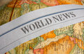 World news letters map Stock Images