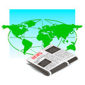 World news vector concept of global Stock Images