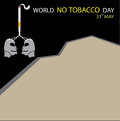 World no tobacco day. Background with Copy Space.