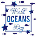 World Ocean Day. Vector illustration for holiday on the sea theme.