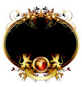 World with ornate frame Royalty Free Stock Photo