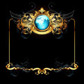 World with ornate frame Stock Photography