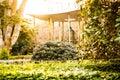 World peace bell, botanic garden, Christchurch. Royalty Free Stock Photo