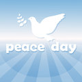 World Peace Day Poster White Dove Bird Symbol Royalty Free Stock Photo