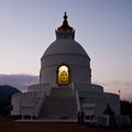 World Peace pagoda in Pokhara, Nepal Stock Image