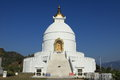 World peace pagoda in pokhara nepal the Stock Photography