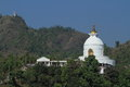 World peace pagoda in pokhara nepal the Stock Photo