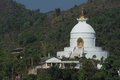 World peace pagoda in pokhara nepal the Stock Images