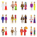 World people icon set Royalty Free Stock Photo