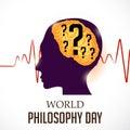 World Philosophy Day. Royalty Free Stock Photo