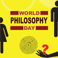 World philosophy day poster for vector illustration Stock Photography