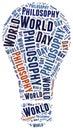 World philosophy day word cloud illustration Stock Image