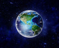 World, Planet Earth from space showing America, USA Royalty Free Stock Photo