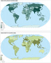 World population map () Royalty Free Stock Photos