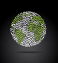 World population over black background vector illustration Stock Photo