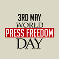 World Press Freedom Day.