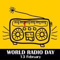 World radio day, 13 february