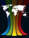 World and rainbow Stock Images