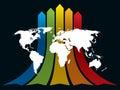World and rainbow Stock Photos