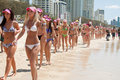 World Record bikini parade in Gold Coast Royalty Free Stock Images