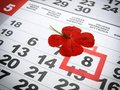 World red cross day marked marked in the calendar Royalty Free Stock Photos
