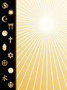 World Religions Poster  Royalty Free Stock Photo