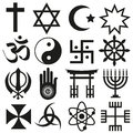 World religions symbols vector set of icons eps Stock Images